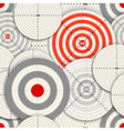 Seamless background of different targets vector image