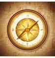 Vintage antique golden compass vector image