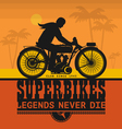 Vintage Motorcycle sport label vector image