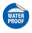 water proof sticker vector image