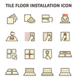Tile floor icon red vector image