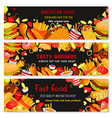 banners for fast food restaurant vector image