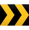 Seamless Yellow Black Arrow vector image