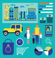 family shopping infographic vector image vector image