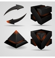geometric abstract futuristic gloomy gothic vector image