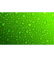 Green background of water drops vector image