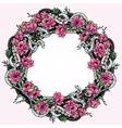Card with elegant floral bouquet frame vector image