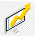 Growth chart isometric 3d icon vector image