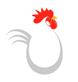 Chicken Happy Easter vector image