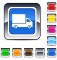 delivery square button vector image
