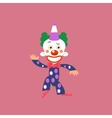 Smiling Clown Greeting vector image