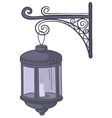 antique lantern vector image
