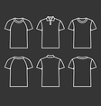Contour icons t shirts vector image