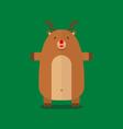 cute fat big reindeer flat design vector image