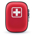 First aid red bag isolated on white vector image