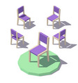 low poly chair vector image