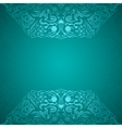 Modern cyan colored background vector image