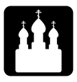 Orthodox church sign button vector image
