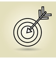 symbol of target isolated icon design vector image