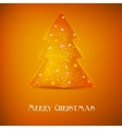 Stylized luminous christmas tree background with vector image vector image