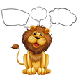 A lion with empty bubble notes vector image vector image