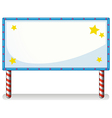 A white board with series lights vector image