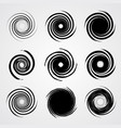 black spiral swirl set vector image