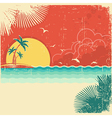 Vintage nature tropical seascape background vector image