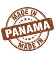 made in panama brown grunge round stamp vector image