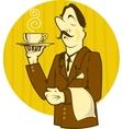 Cartoon Waiter vector image