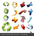 icon set  3d arrows vector image vector image