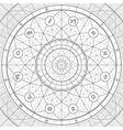 zodiac ring linedraft vector image vector image