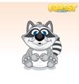 Cute Cartoon Raccoon Funny Animal vector image