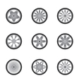 Car wheels isolated on white vector image