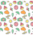 Seamless pattern in stylish colors of traveling vector image