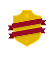 badge business icon flat style vector image
