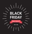 black friday big sale banner design holiday vector image