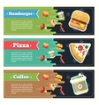 concept fast food flat banner set Flayer vector image
