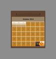 Design schedule monthly october 2014 calendar vector image