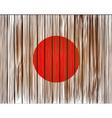 grunge japan flag Eps10 vector image