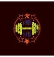 Gym symbol grunge vector image