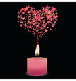 pink candle vector image