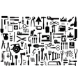 Set retro building tools vector image