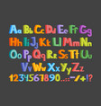 the colorful alphabet vector image