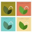 assembly flat nature plant vector image