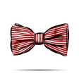 Hand drawn bow with striped vector image
