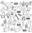 sketch contour set elements daily life icon vector image