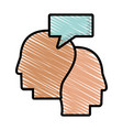 drawing profile head dialog talking vector image