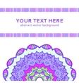 Vintage violet invitation card vector image