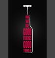 wine bottle logo design background vector image vector image